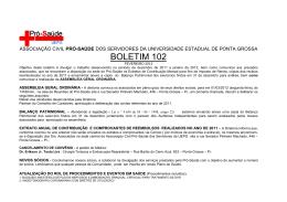 BOLETIM 102 - Universidade Estadual de Ponta Grossa