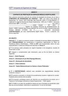 ANEXO X CONTRATO DE PRESTAÇÃO DE SERVIÇOS