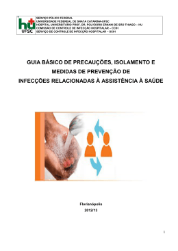 Manual de Isolamento e Precaução - Hospital Universitário