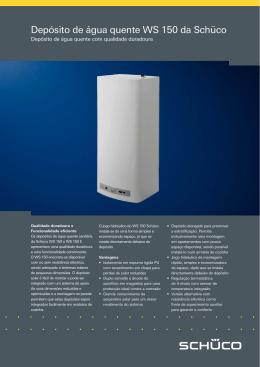 Depósito de água quente WS 150 da Schüco
