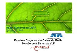Ensaio e Diagnose em Cabos de Média Tensão com