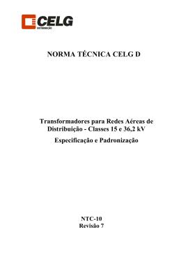Transformadores para Redes Aéreas de Distribuição