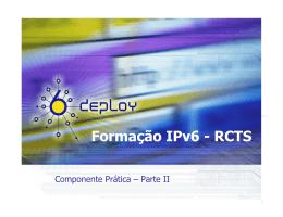 Exercícios, Parte II - Formação IPv6 RCTS