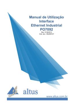 Manual de Utilização Interface Ethernet Industrial PO7092