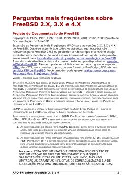 FAQ FreeBSD 2, 3 e 4