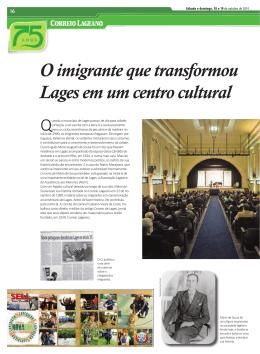 O imigrante que transformou Lages em um centro cultural