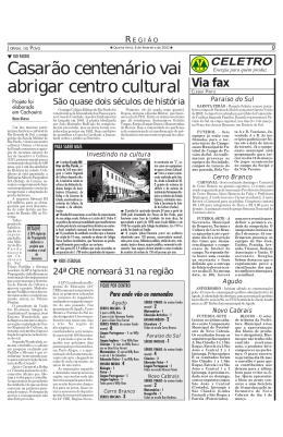 Casarão centenário vai abrigar centro cultural