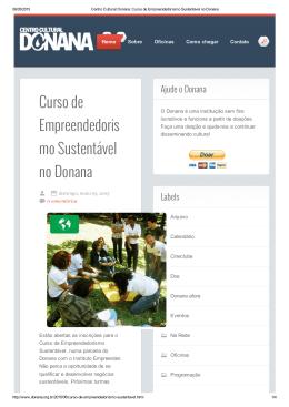 Centro Cultural Donana_ Curso de Empreendedorismo Sustentável