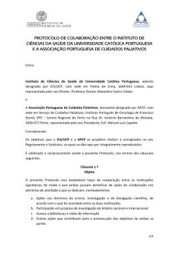protocolo de colaboração entre o instituto de ciências da saúde da