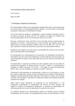 1 TRANSFORMADORES TRIFÁSICOS Ivan Camargo Março