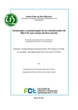 Construção e caracterização de um transformador de 562,5