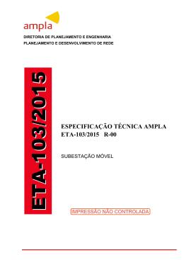 ETA-103/2015 R-00 Subestação Móvel