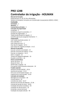 PRO 1248 Controlador de irrigação - HOLMAN