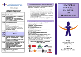 i seminário municipal em saúde do trabalhador