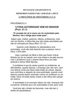 1)TODA AUTORIDADE VEM DO SENHOR (Prov