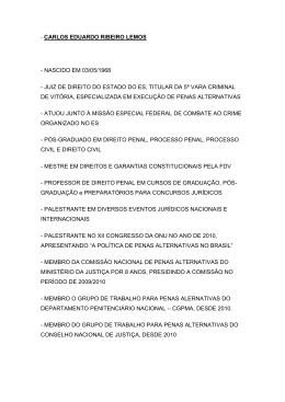 carlos eduardo ribeiro lemos - Faculdade de Direito da UNL