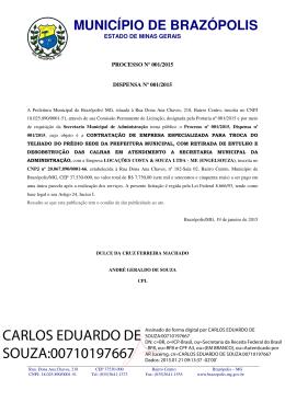 CARLOS EDUARDO DE SOUZA:00710197667