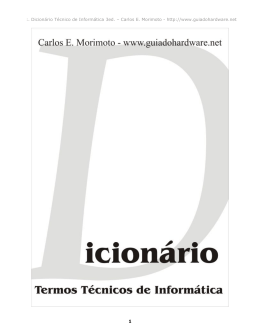 Dicionário de Termos de informática