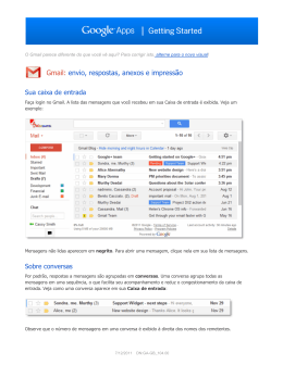 Gmail: envio, respostas, anexos e impressão