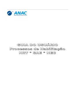 Guia do Usuário para Processos de Habilitação - NRT, SAE