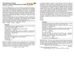 Cálculos Estequiométricos no ENEM - Pré