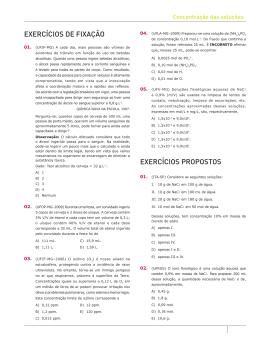 Exercícios – Soluções II