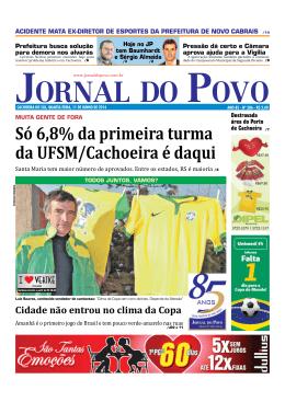 Só 6,8% da primeira turma da UFSM/Cachoeira é
