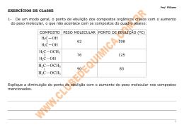 H2C OCH3 H2C OCH3 - Clube de Química