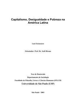 Capitalismo, Desigualdade e Pobreza na América Latina