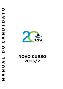 Manual do Candidato - Novo Curso - 2015 2