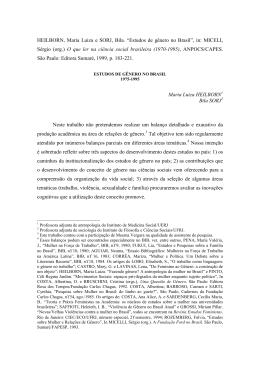 Estudos de Gênero no Brasil1