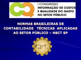 normas brasileiras de contabilidade - Tesouro Nacional