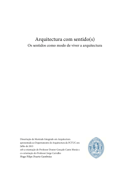 Arquitectura com sentido(s)