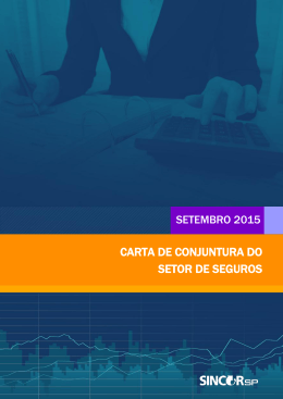 CARTA DE CONJUNTURA DO SETOR DE SEGUROS - Sincor-SP