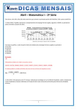 Abril – Matemática I – 2ª Série
