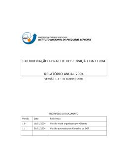 Relatório Anual OBT 2004