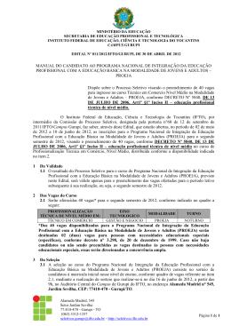 Edital nº 011/2012