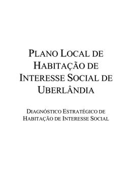 Diagnóstico Estratégico de Habitação de Interesse Social