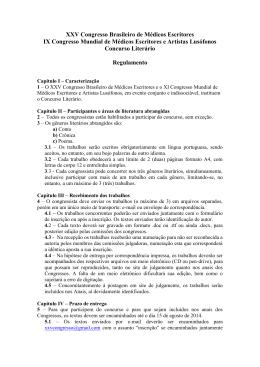 Regulamento do Concurso - 2014 - sobrames-pe