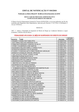 Edital de Notificação Nº 10-2010