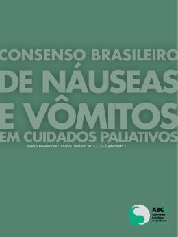 CONSENSO BRASILEIRO DE NÁUSEAS E VôMITOS