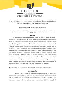APROVEITAMENTO DE SOBRAS DE MASSAS