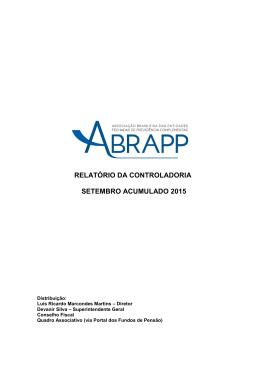relatório da controladoria setembro acumulado 2015