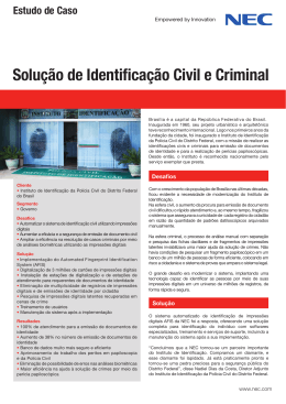 Solução de Identificação Civil e Criminal