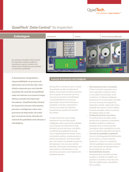 Folheto do QuadTech® Data Central® para Inspeção