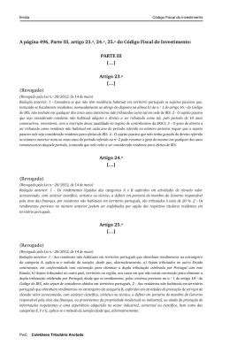 A página 496, Parte III, artigo 23.º, 24.º, 25.º do Código Fiscal