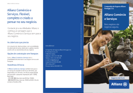 Allianz Comércio e Serviços. Flexível, completo e criado a pensar