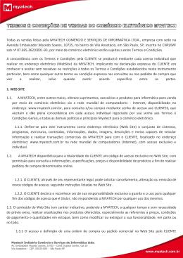 Todas as vendas feitas pela MYATECH COMÉRCIO E SERVIÇOS