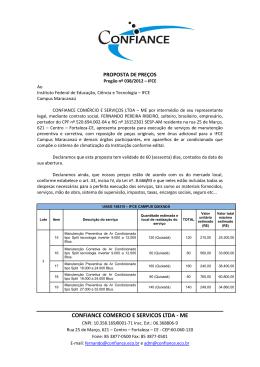 CONFIANCE COMERCIO E SERVICOS LTDA