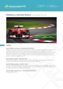 fórmula 1 em são paulo . novembro de 2015